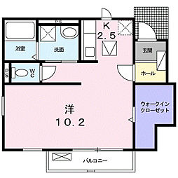 ピ−グオッド[101号室]の間取り