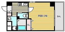 ラ・フォンテ松屋町[7階]の間取り