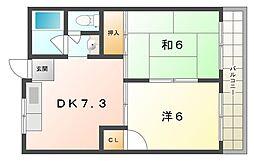 グローリーハイツ森田[2階]の間取り