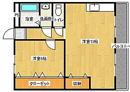 AXIS浜寺公園[105号室]の間取り