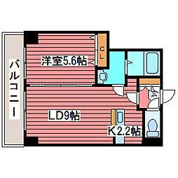 efII[6階]の間取り