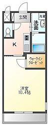 高松琴平電気鉄道琴平線 三条駅 徒歩18分の賃貸アパート 2階1Kの間取り
