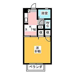 シャーメゾンスイート B棟[1階]の間取り
