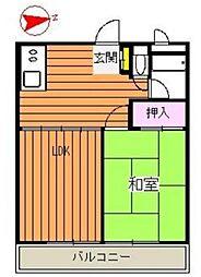 徳丸第2ハイツ[2階]の間取り
