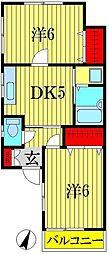 ロックガーデン[1階]の間取り