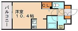 エンクレスト博多駅南シェア[14階]の間取り