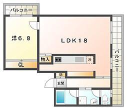 JPアパートメント守口[4階]の間取り