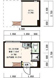 (仮称)豊島デザイナーズ賃貸コーポ[201号室]の間取り