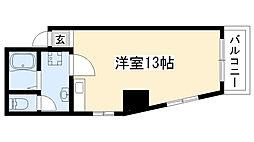 トミタビル四軒家[501号室]の間取り
