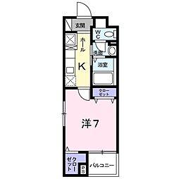 グレンツェン茨木[2階]の間取り