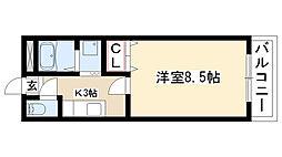 愛知県名古屋市緑区鳴海町字諸ノ木の賃貸アパートの間取り