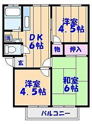 藤原第2鈴木アーバン[201号室]の間取り