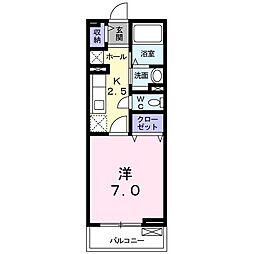 大阪府高槻市八幡町の賃貸アパートの間取り