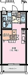 (仮称)出北・3丁目佐藤マンション 2階ワンルームの間取り