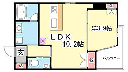 STELLA LUCE北野坂[8階]の間取り