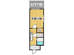 アドバンス新今里[3階]の間取り