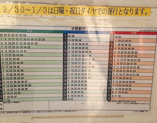 京王バス中野駅...
