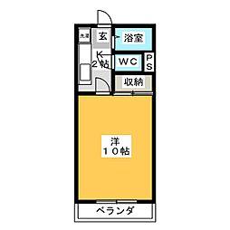 アメニティ若松[2階]の間取り