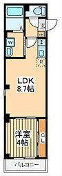 仮)ビューノ鶴見 4階1LDKの間取り