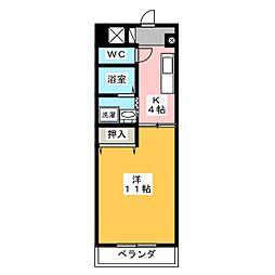 各務野ハイツII[7階]の間取り