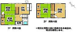 [一戸建] 福岡県大牟田市米生町1丁目 の賃貸【/】の間取り