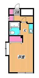 東京都杉並区阿佐谷北3丁目の賃貸アパートの間取り