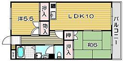 メゾン千代田[1階]の間取り
