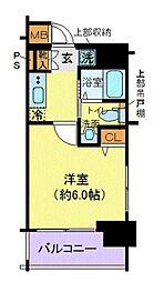 JR山手線 大崎駅 徒歩2分の賃貸マンション 9階1Kの間取り