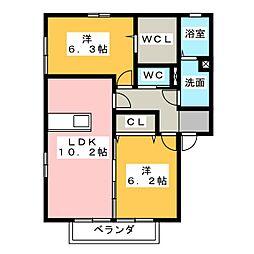ソレーユ高屋[2階]の間取り