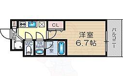 Osaka Metro御堂筋線 東三国駅 徒歩7分の賃貸マンション 2階1Kの間取り