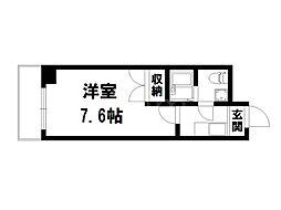 ラ・ヴィーダ[1階]の間取り