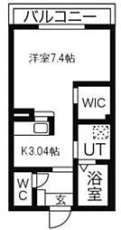 神奈川県平塚市真田3丁目の賃貸アパートの間取り