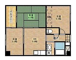 メリエルフクダ[2階]の間取り