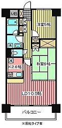 プリムベール南浦和[4階]の間取り
