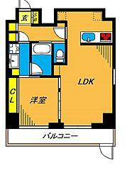 旗の台アパートメント 1階1LDKの間取り