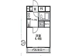 マンション清山[3階]の間取り