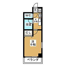 バインオーク イレブン[9階]の間取り