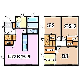 [タウンハウス] 長野県安曇野市豊科 の賃貸【/】の間取り