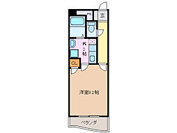 三重県四日市市富田1丁目の賃貸マンションの間取り