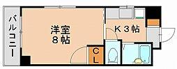 サニーピア竹下[5階]の間取り