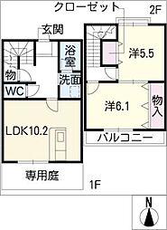 [タウンハウス] 愛知県津島市柳原町3丁目 の賃貸【/】の間取り