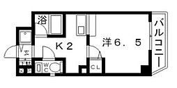 クレイドル西田辺[6階]の間取り