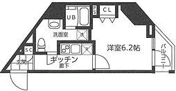横浜市営地下鉄ブルーライン 吉野町駅 徒歩3分の賃貸マンション 4階1Kの間取り