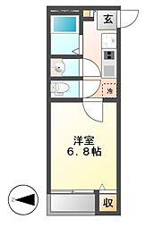 クレイノKimataIII[2階]の間取り