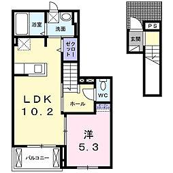 ピポットI[2階]の間取り