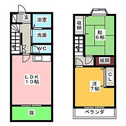[テラスハウス] 静岡県浜松市南区安松町 の賃貸【/】の間取り