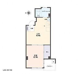 大山パールマンション[1階]の間取り