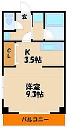 兵庫県明石市野々上3丁目の賃貸アパートの間取り