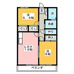 シャングリラ[2階]の間取り