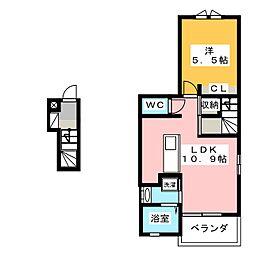 トゥルーランド錦 E[1階]の間取り